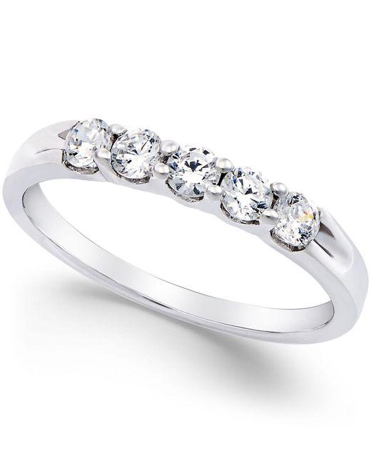 Macy's - Metallic Diamond 5-stone Ring In Platinum (1/2 Ct. T.w.) - Lyst