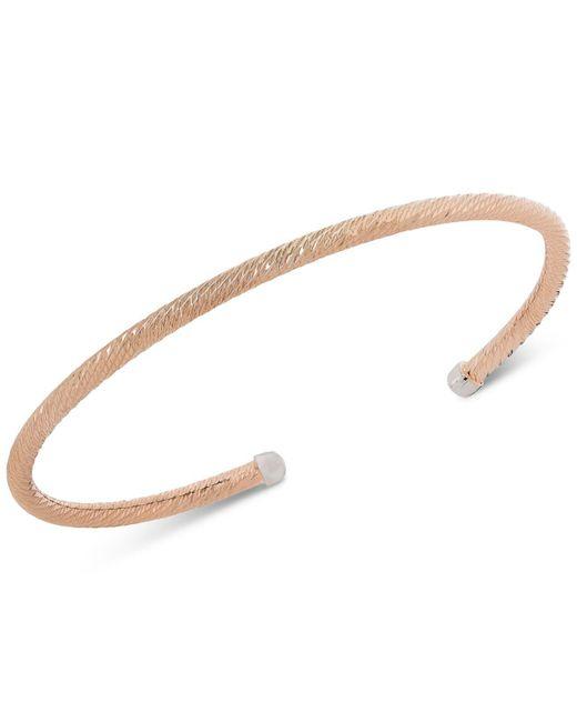 Giani Bernini - Metallic Diamond Cut Cuff Bangle Stack Bracelet In Sterling Silver, 18k Gold Or Rose Gold-plated Sterling Silver, Created For Macy's - Lyst