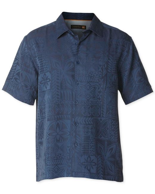 Quiksilver | Blue Waterman Collection Men's Aganoa Bay 3 Jacquard Shirt for Men | Lyst