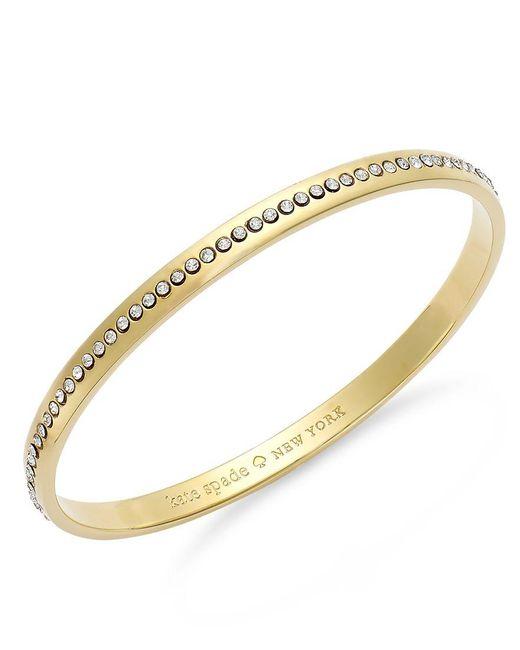 kate spade new york   Metallic Crystal Pavé Idiom Bangle Bracelet   Lyst
