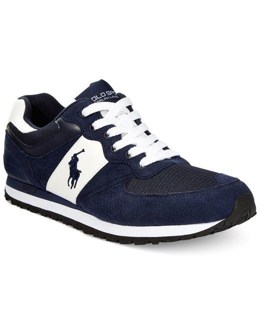 Polo Ralph Lauren   Blue Slaton Pony Sneakers for Men   Lyst
