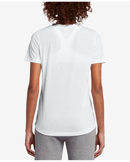 49f9476256d Lyst - Nike Logo-printed T-shirt in White - Save 50%