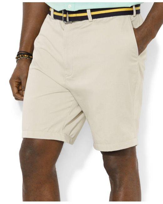 Polo Ralph Lauren | Natural Men's Big And Tall Classic-fit Flat-front Suffield Shorts for Men | Lyst