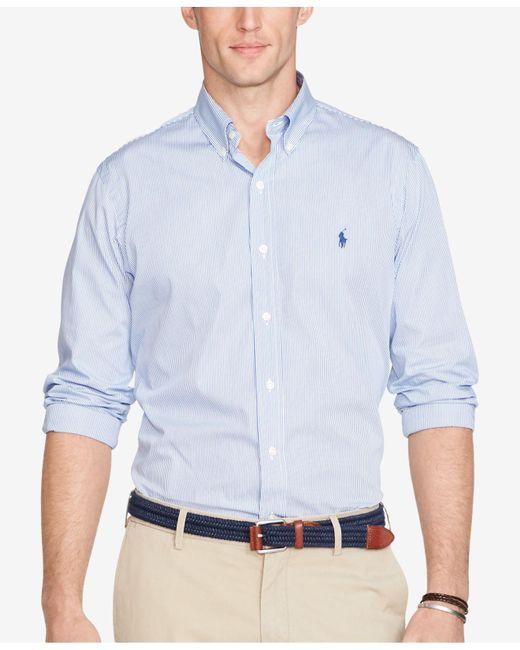 Polo Ralph Lauren   Blue Hairline-striped Poplin Shirt for Men   Lyst