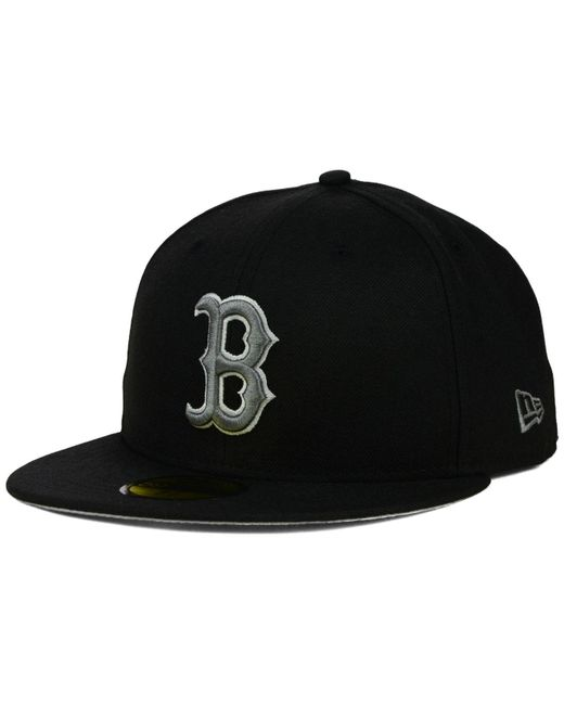 KTZ | Boston Red Sox Black Graphite 59fifty Cap for Men | Lyst