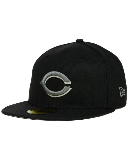 KTZ | Gray Cincinnati Reds Black Graphite 59fifty Cap for Men | Lyst