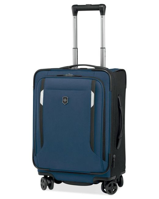 "Victorinox | Blue Victorinox Werks Traveler 5.0 20"" Carry-on Expandable Dual Caster Spinner Suitcase for Men 
