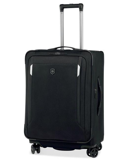 "Victorinox | Black Victorinox Werks Traveler 5.0 24"" Expandable Dual Caster Spinner Suitcase for Men | Lyst"