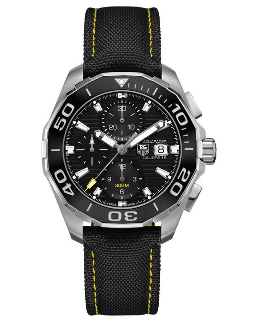 Tag Heuer   Black Men's Swiss Automatic Chronograph Carrera Calibre 16 Stainless Steel Bracelet Watch 43mm Cv2a1r.fc6235 for Men   Lyst
