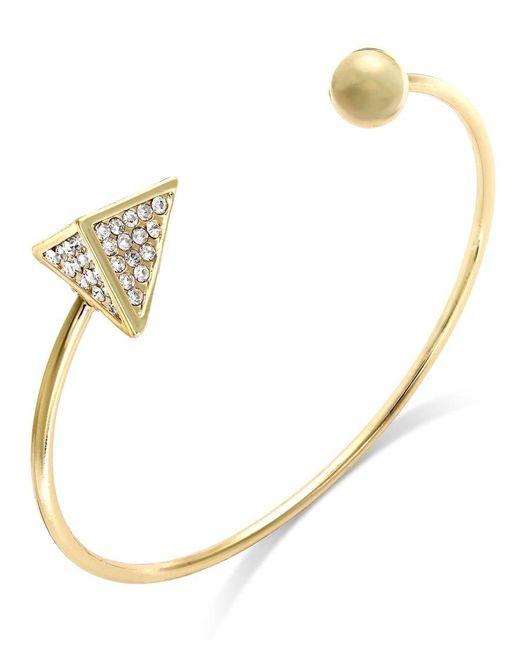 ABS By Allen Schwartz   Metallic Crystal Pyramid Cuff Bracelet   Lyst