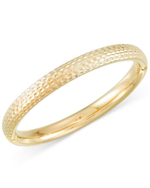 Signature Gold | Metallic Textured Bangle Bracelet In 14k Gold | Lyst