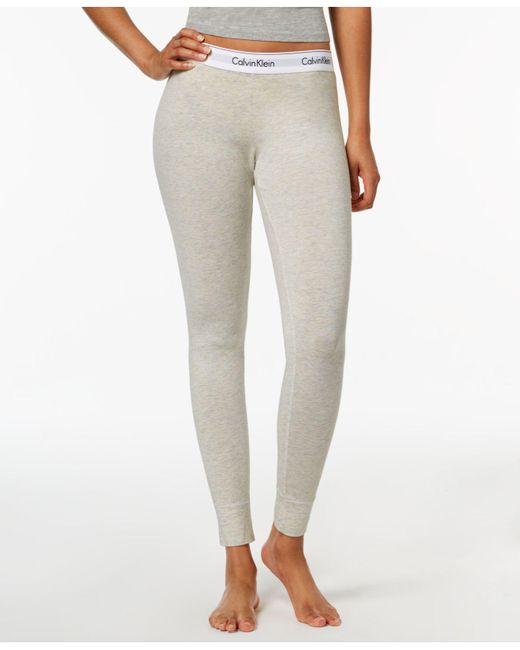 CALVIN KLEIN 205W39NYC - Gray Logo-waist Leggings Qs5875 - Lyst