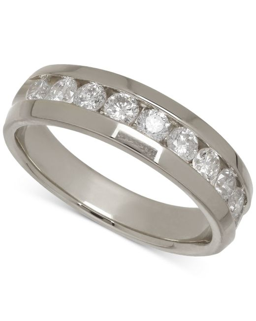 Macy's | Men's Diamond Band In 14k White Gold (1 Ct. T.w.) for Men | Lyst