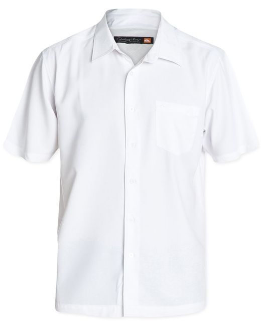 Quiksilver | White Waterman Men's Clear Days Solid Short-sleeve Shirt for Men | Lyst