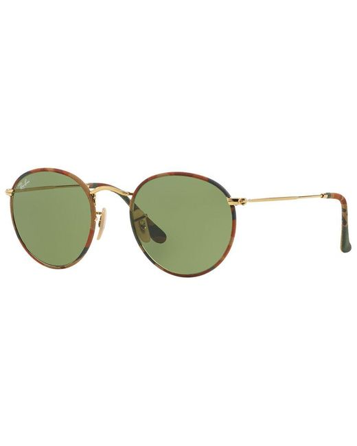 Ray-Ban | Brown Sunglasses, Rb3447jm Round Camouflage | Lyst