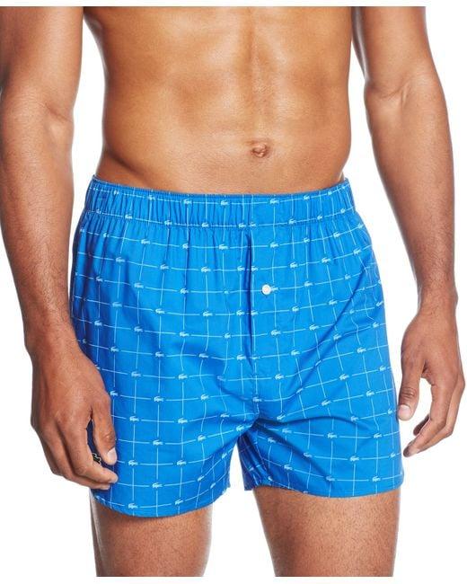 Lacoste   Blue Men's Croc Boxers 2-pack for Men   Lyst