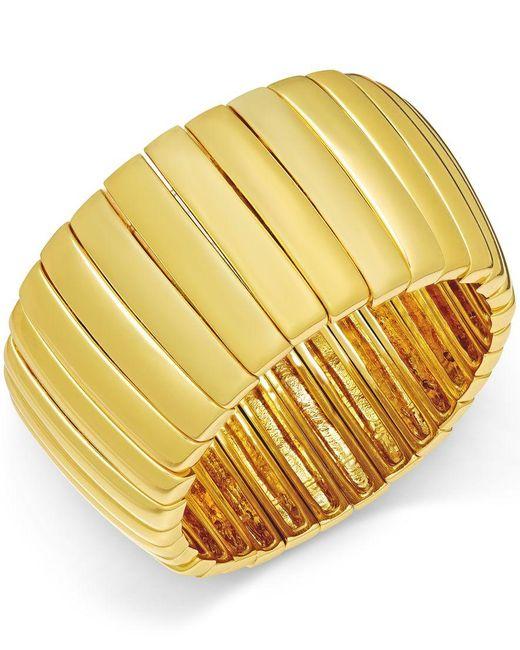 ABS By Allen Schwartz | Metallic Gold-tone Bar Stretch Bracelet | Lyst