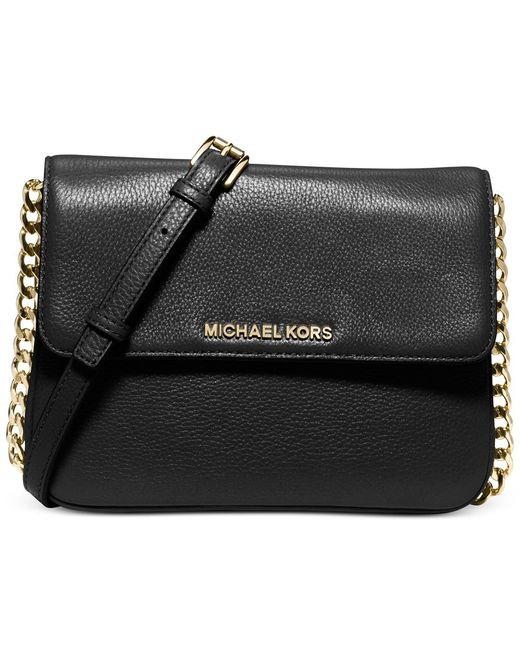 Michael Kors | Black Michael Bedford Double Gusset Crossbody | Lyst