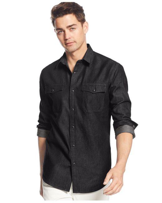 American Rag | Black Deija Shirt for Men | Lyst