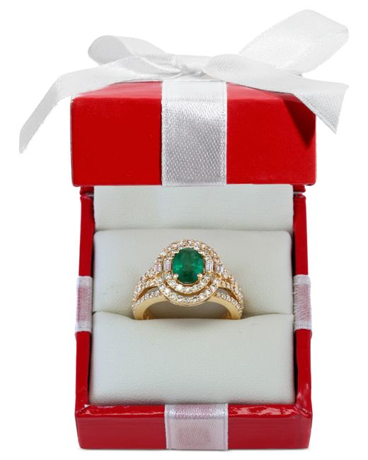 Effy Collection | Green Emerald (1-1/7 Ct. T.w.) And Diamond (1-1/7 Ct. T.w.) Ring In 14k Gold | Lyst