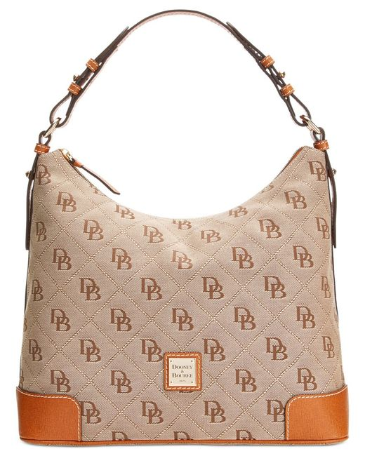 Dooney & Bourke | Brown Americana Signature Erica Hobo, A Macy's Exclusive Style | Lyst
