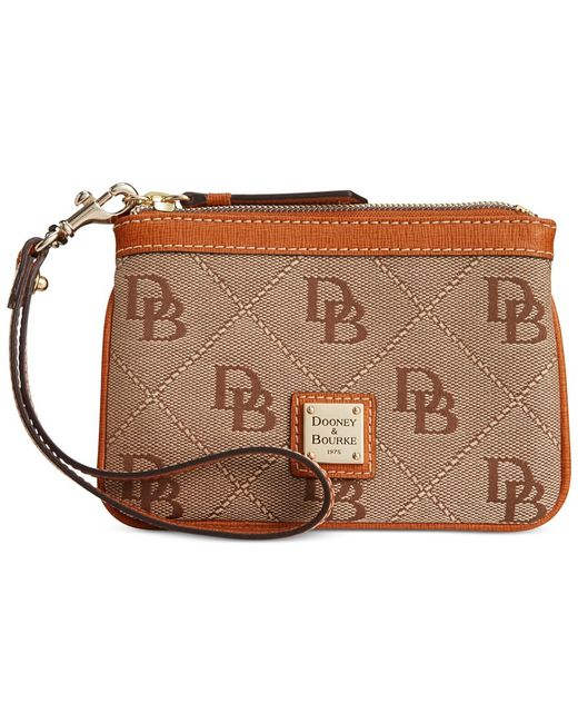 Dooney & Bourke | Natural Maxi Quilt Americana Signature Medium Wristlet, A Macy's Exclusive Style | Lyst