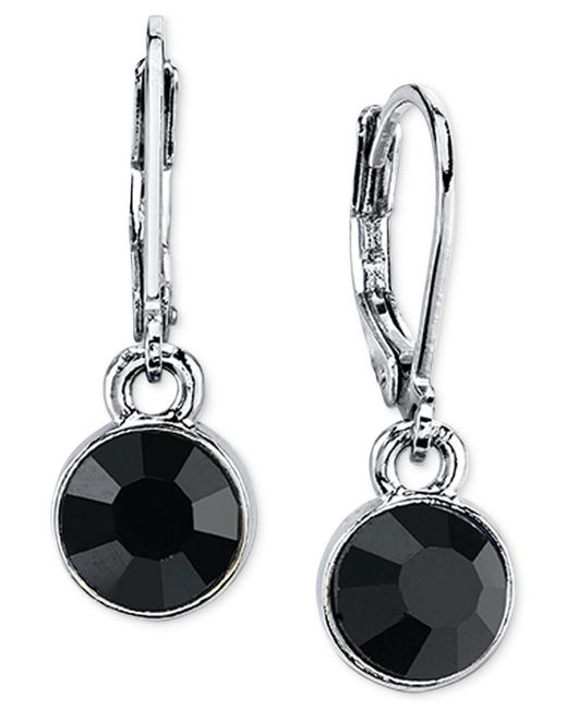 2028 | Metallic Round Crystal Drop Earrings | Lyst