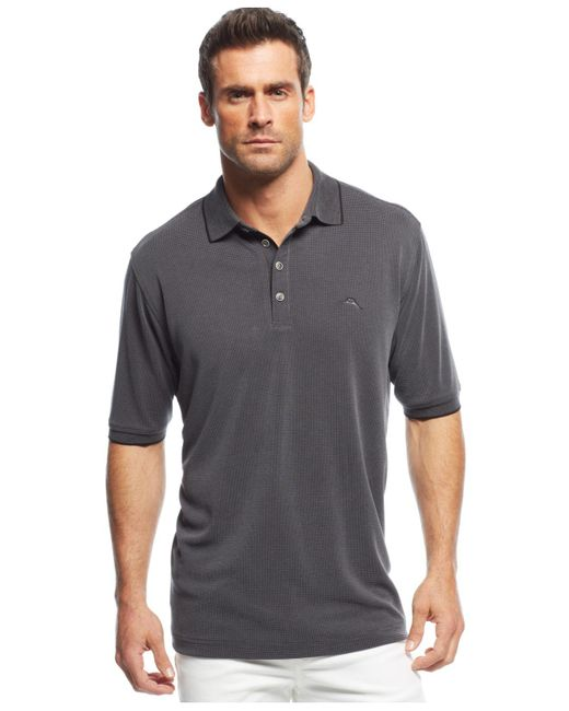 Tommy Bahama | Black All Square Polo for Men | Lyst