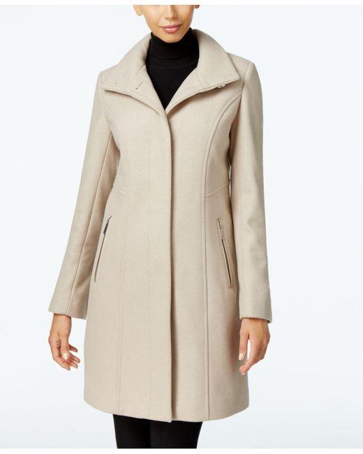 Kenneth Cole | Natural Wool-blend Seamed Walker Coat | Lyst
