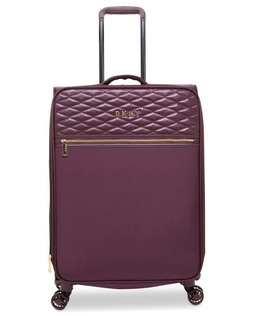 "DKNY - Purple Allure 25"" Quilted Softside Spinner Suitcase - Lyst"
