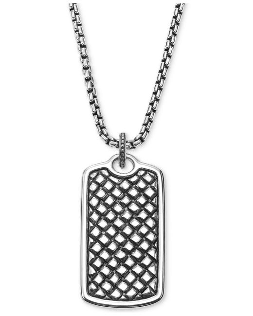 Scott Kay - Metallic Men's Textured Dog Tag Pendant Necklace In Sterling Silver for Men - Lyst
