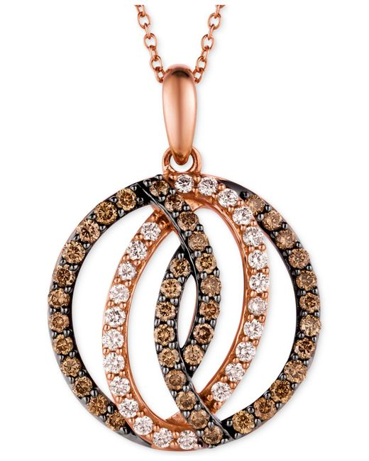 Le Vian | Red Chocolatier® Diamond Circle Pendant In 14k Strawberry Rose Gold (1 Ct. T.w.) | Lyst
