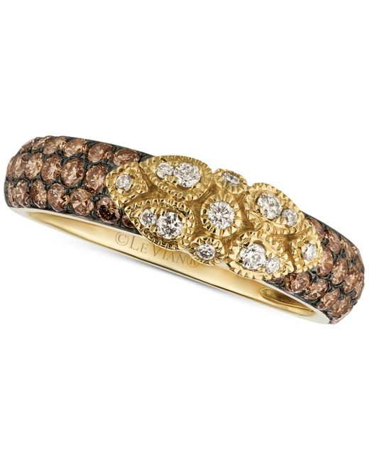 Le Vian | Metallic Chocolate Deco Estate Diamond (3/4 Ct. T.w.) Ring In 14k Gold | Lyst