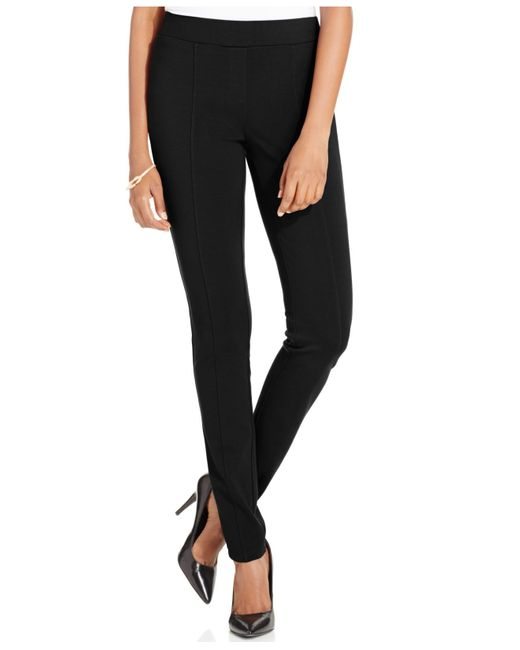 Style & Co. | Black Stretch Seam-front Ponte Pants | Lyst