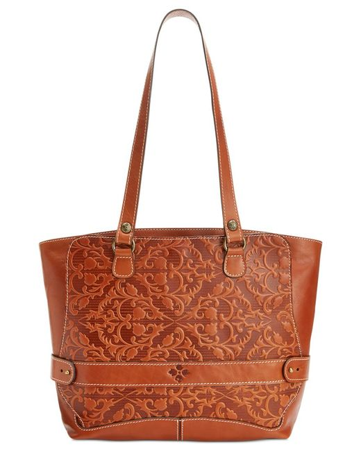 Patricia Nash | Brown Tooled Lapila Computer Tote | Lyst