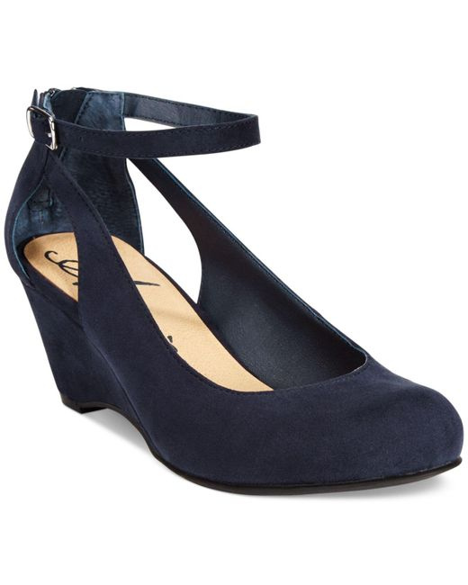 American Rag | Blue Miley Chop Out Wedges | Lyst