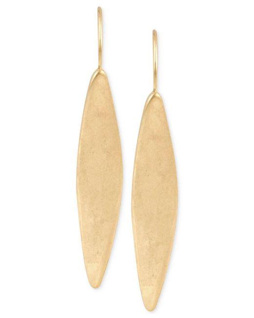 Kenneth Cole   Metallic Gold-tone Linear Earrings   Lyst