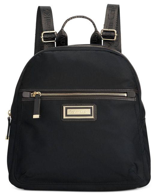 Calvin Klein   Black Dressy Nylon Backpack   Lyst