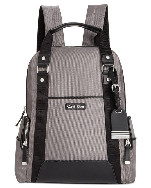 Calvin Klein | Gray Ballistic Nylon Backpack | Lyst