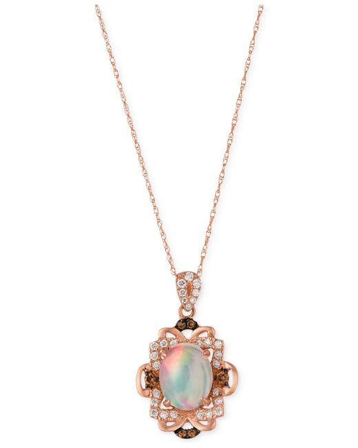 Le Vian | Pink Opal (1-1/5 Ct. T.w.) And Diamond (1/3 Ct. T.w.) Pendant Necklace In 14k Rose Gold | Lyst
