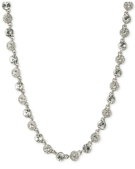 Givenchy | Metallic Silver-tone Crystal Necklace | Lyst