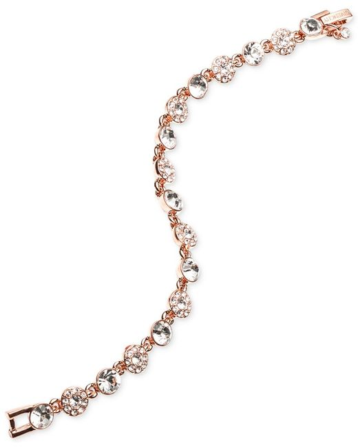 Givenchy | Metallic Rose Gold-tone Crystal Bracelet | Lyst