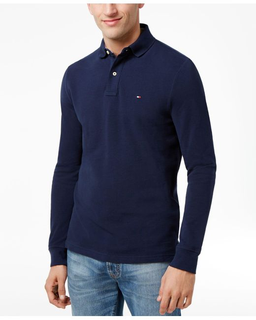 Tommy Hilfiger | Blue Men's Long-sleeve Classic-fit Polo for Men | Lyst