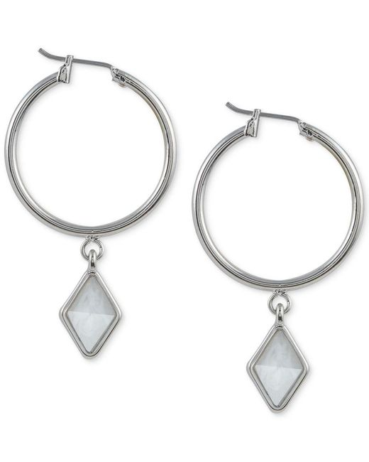 French Connection   Metallic Silver-tone Click-it Kite Drop Earrings   Lyst