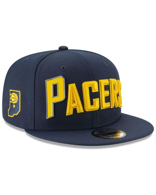 KTZ - Blue Indiana Pacers Enamel Script 9fifty Snapback Cap for Men - Lyst  ... 649fbe7abd8