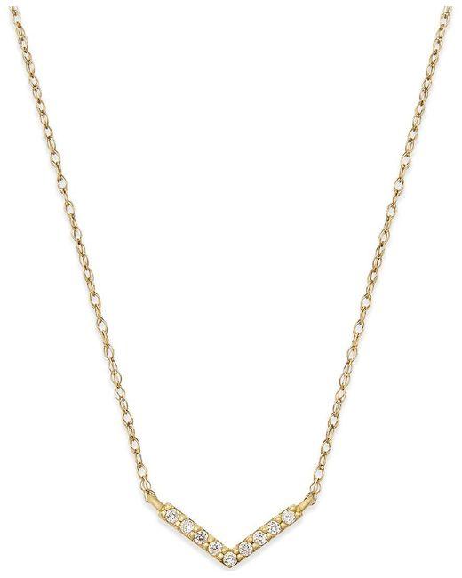 Macy's | Metallic Cubic Zirconia Pendant Necklace In 10k Gold | Lyst