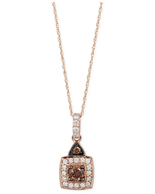 Le Vian | Metallic Chocolatier Chocolate And White Diamond Pendant Necklace (1/2 Ct. T.w.) In 14k Rose Gold | Lyst