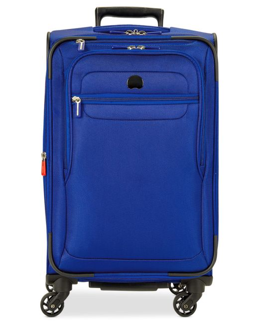 "Delsey | Blue Helium Fusion 21"" Expandable Spinner Suitcase, Only At Macy's for Men 