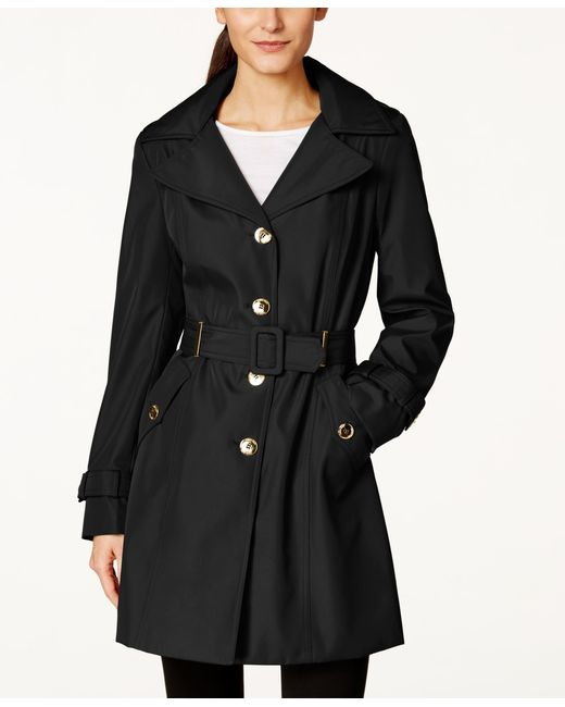 Calvin Klein | Black Single-Breasted Water-Resistant Trench Coat | Lyst