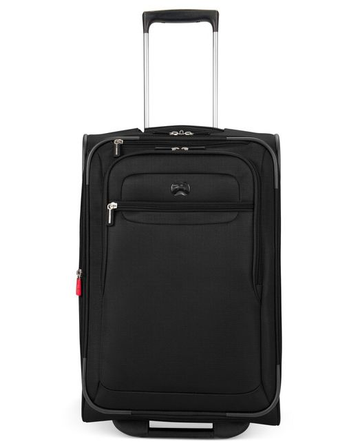 "Delsey | Black Helium Fusion 21"" Expandable Rolling Suitcase, Only At Macy's for Men 